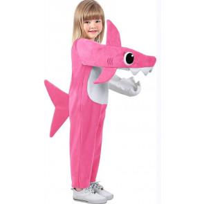 Toddler Baby Shark Mommy Shark Costume - Pink