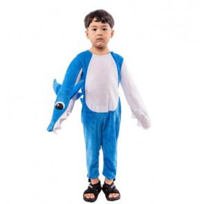 Toddler Baby Shark Daddy Shark Costume - Blue