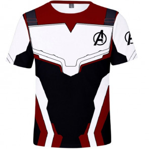 Kids Avengers Endgame Quantum Realm Cosplay Costume Top T-Shirt