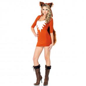 Halloween Sexy Fox Dress Ears Tail Women's Costume