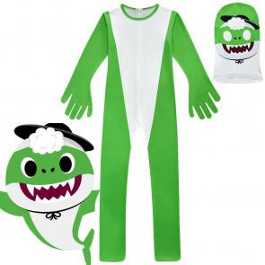 Kids Grandpa Green Shark Costume