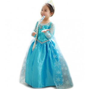 Girls Frozen Elsa Dress Costume