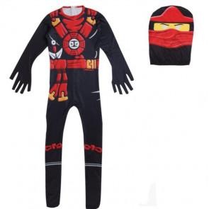 Boys Black Ninja Ninjago Costume