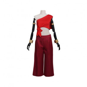 Avatar The Last Airbender Katara Red Costume Women Cosplay Costume