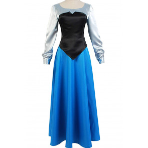 Ariel Blue Dress Costume Cosplay