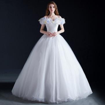 Cinderella White Dress Cosplay Costume
