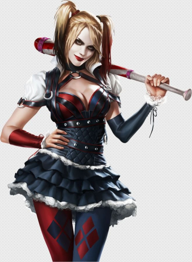 Details about  / Batman Arkham Knight Harley Cosplay Costume Full Size Halloween Masquerade Suit