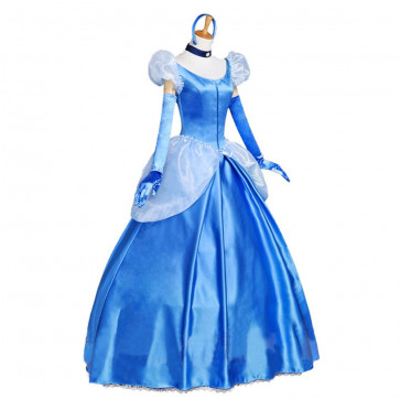 Disney Cinderella Princess Cosplay Outfit For Children and Adults Halloween Costume
