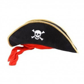 Halloween Prop Pirate Hat Red Costume