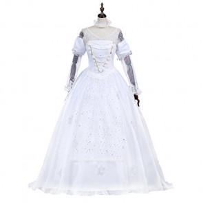 Alice in Wonderland White Queen Cosplay Costume Dress