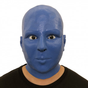 Blue Alien Face Mask Costume