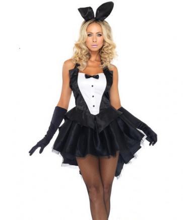Halloween Sexy Bunny Girl's Dress and Ears Women's Costume
