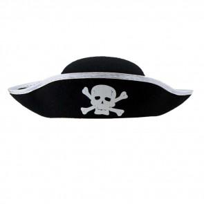 Halloween Prop Pirate Hat Silver Costume