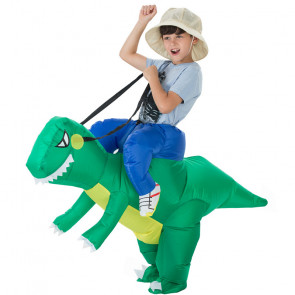Inflatable Riding Dinosaur Costume For Kids