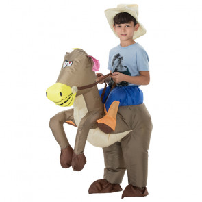 Inflatable Riding Horse Costume For Kids