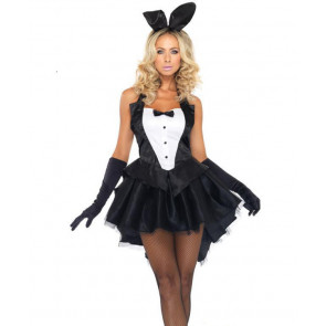 Halloween Sexy Bunny Girl's Dress and Ears Women's Costume