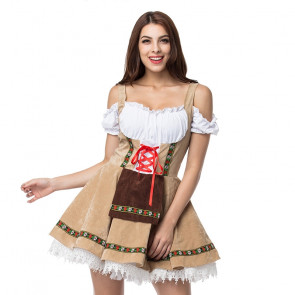 Bavarian Oktoberfest Beer Girl Costume Dress