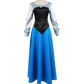 Ariel Blue Dress Costume Cosplay