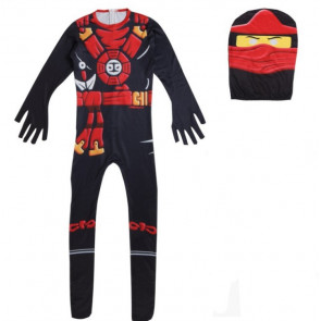 Boys Black Ninja Ninjago Costume