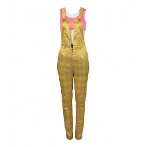 Birds Of Prey Harley Quinn Yellow Jumpsuit Cosplay Costume