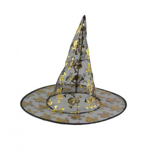 Halloween Prop Witch Mesh Hat Costume