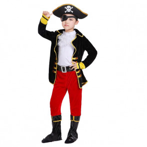 Halloween Kids Masquerade Ball Party Pirate Set Costume