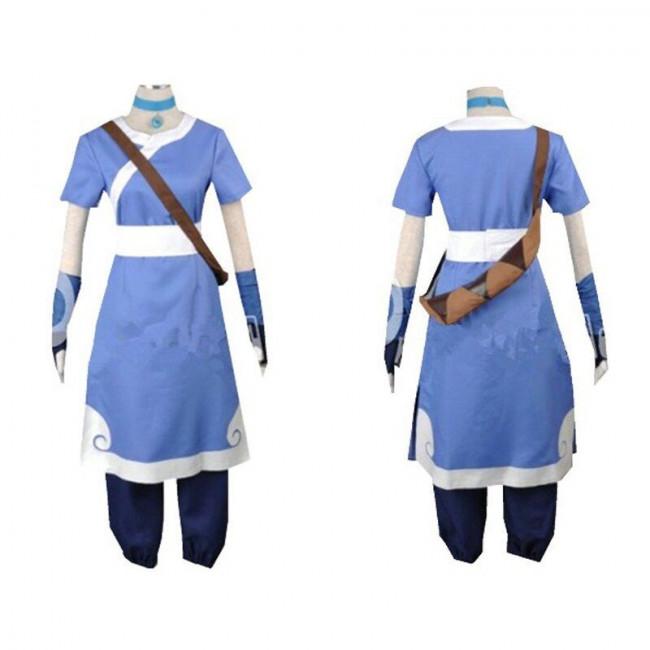 Avatar The Last Airbender Katara Blue Cosplay Costume ...