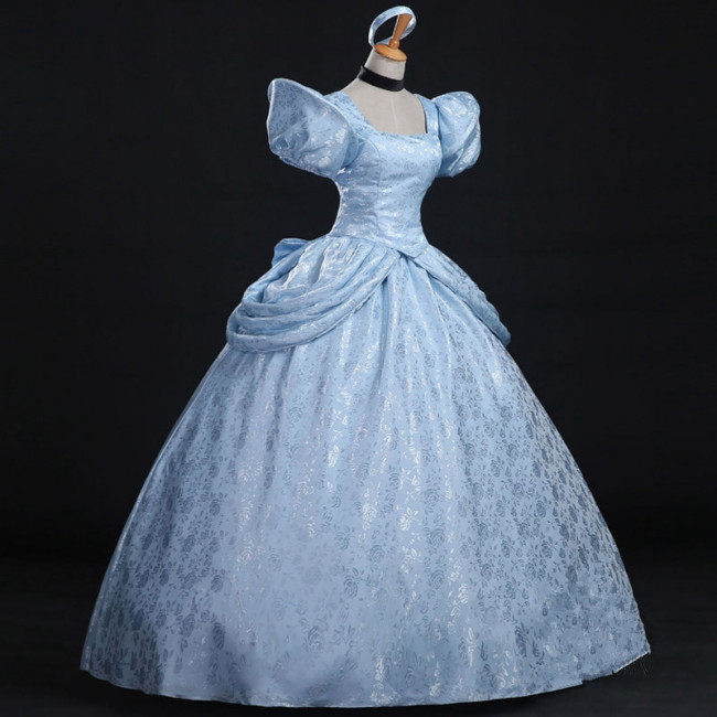 Disney Cinderella Cosplay Costume Dress For Adults Halloween