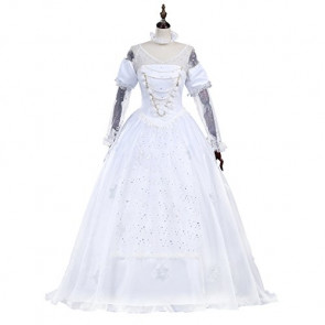 Alice in Wonderland White Queen Cosplay Costume Dress