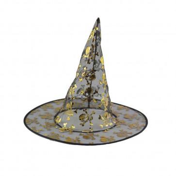 Halloween Prop Witch Mesh Hat Costume
