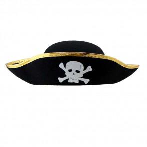 Halloween Prop Pirate Hat Gold Costume
