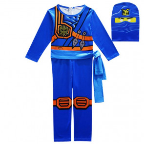 Boys Blue Ninjago with Mask Cosplay Costume