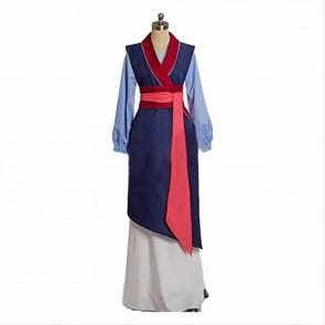 Blue Mulan Cosplay Costume Dress