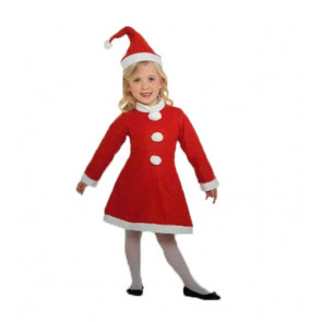 Girls Santa Claus Costume Outfit