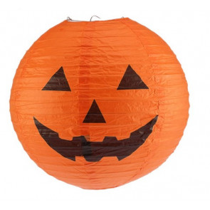 Halloween Paper Pumpkin Hanging Lantern Light
